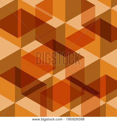 Abstract orange geometric template background, stock vector