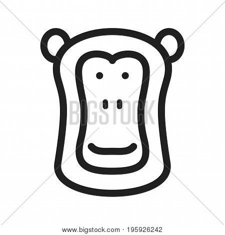 Baboon, face, africa icon vector image. Can also be used for Animals Faces. Suitable for mobile apps, web apps and print media.