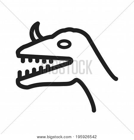 Dinosaur, dino, face icon vector image. Can also be used for Animal Faces. Suitable for use on web apps, mobile apps and print media.