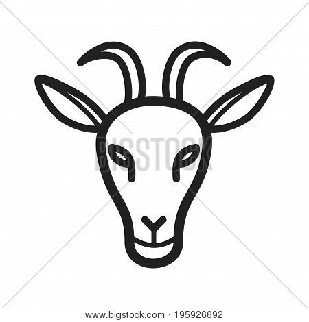 Goat, face, animal icon vector image. Can also be used for Animal Faces. Suitable for mobile apps, web apps and print media.