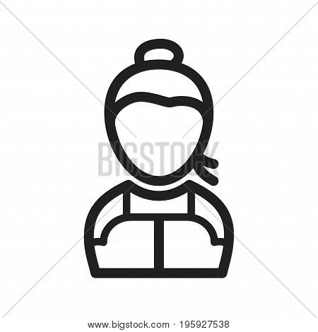 Fashion, pony, black icon vector image. Can also be used for Avatars. Suitable for mobile apps, web apps and print media.