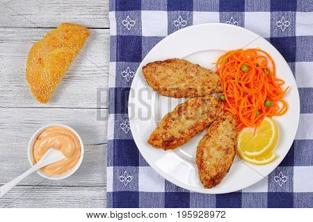 Tasty Juicy Chicken Turkey Fried Cutlets