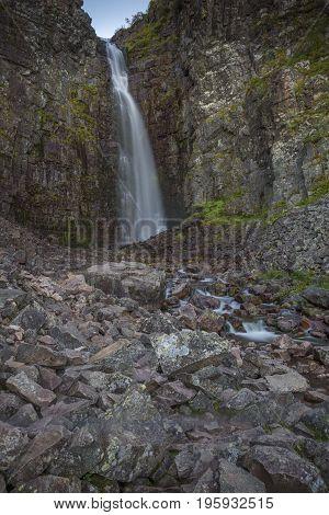 The Njupeskär ist the biggest waterfall in sweden.