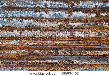 rusty on metal corrugated sheet, rusty  corrugated texture