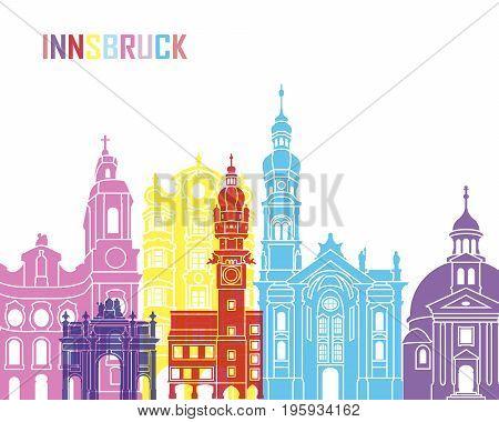 Innsbruck Skyline Pop
