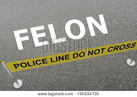 Felon - Criminal Concept