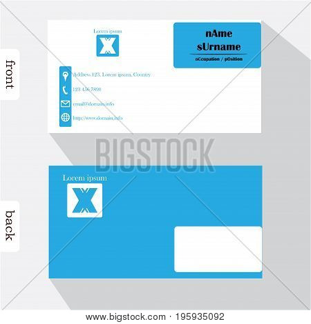 Vector Design Modern Creative Business Card Template. Show Front And Back Of Card. Concept First Imp