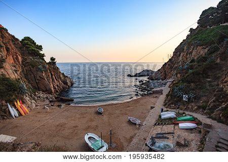 Platja D'es Codolar. Beach In Tossa De Mar