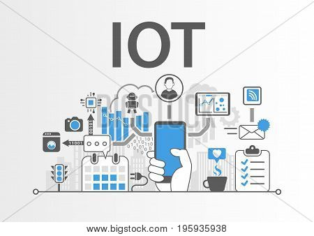 IOT Internet of Things concept as vector illustration