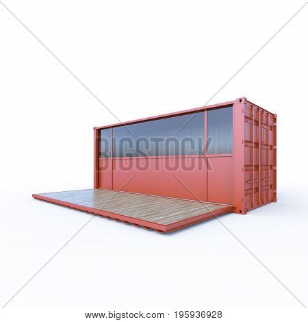 3D Container convertible to mobile shop or cafe