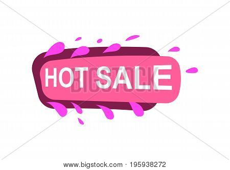 Hot sale speech bubble for retail promotion. Most commonly used replica label, marketing sticker isolated vector illustration.