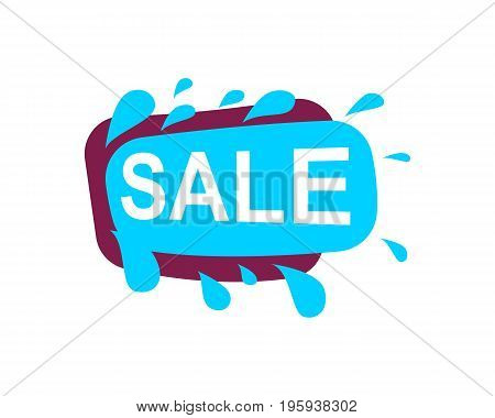 Sale speech bubble for retail promotion. Most commonly used replica label, marketing sticker isolated vector illustration.