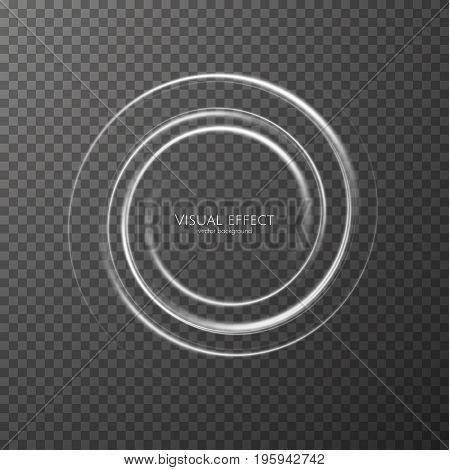 Vector effect background with shiny spiral frame. EPS10