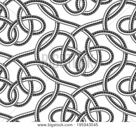 Seamless pattern of shower hoses. Vector illustration