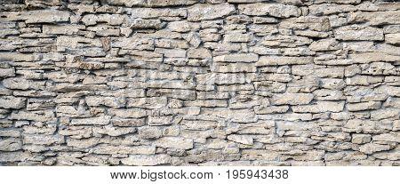 Decor stone wall backround. Detailed grunge texture