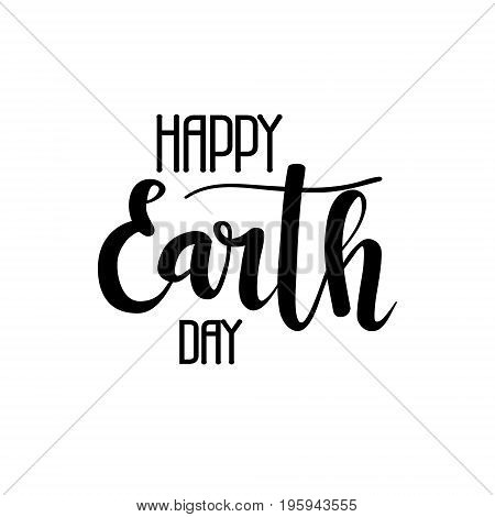 Happy Earth day vector calligraphy. Green holiday lettering design