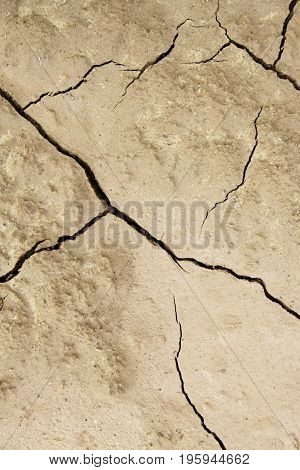 Soil Cracked By A Climatic Disaster