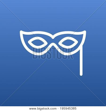 Isolated Masquerade Outline Symbol On Clean Background