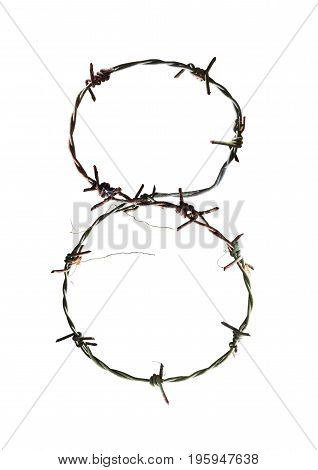 Numbers designed as barbed wire. For use in various design topics.