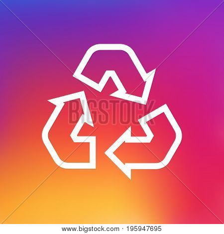 Isolated Cleaning Outline Symbol On Clean Background