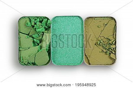 Green Crushed Eyeshadow For Make Up As Sample Of Cosmetic Product