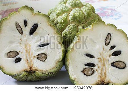 sugar apple fruit tropical round food exotic