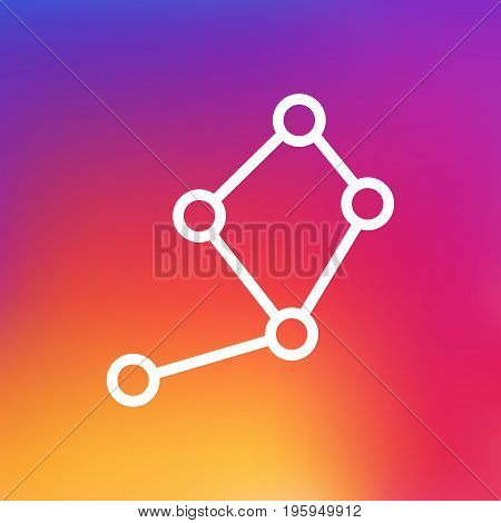 Isolated Horoscope Outline Symbol On Clean Background