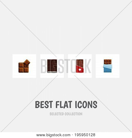 Flat Icon Bitter Set Of Dessert, Cocoa, Bitter And Other Vector Objects