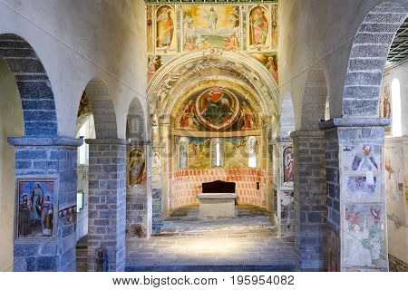 Interior Of Saint St Peter And Paul Church In Biasca