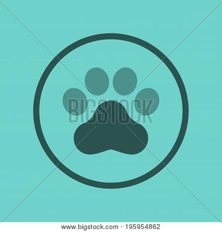 flat icon on stylish background dog trail