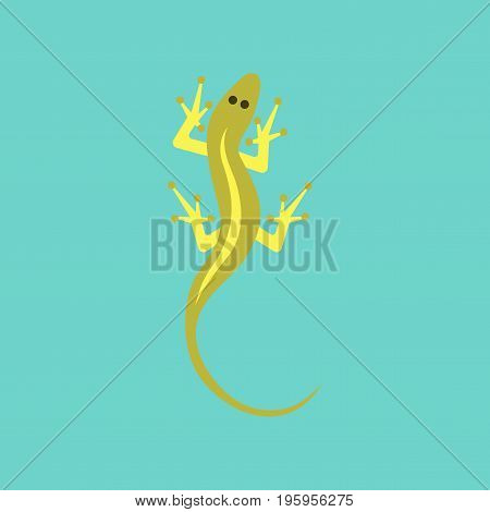 flat icon on stylish background lizard reptile