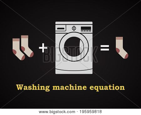 Washing machine equation - funny inscription template