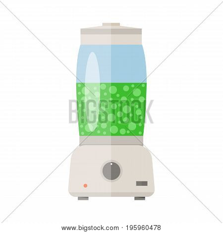 Electronic food and smoothie blender icon vector illustration in flat style