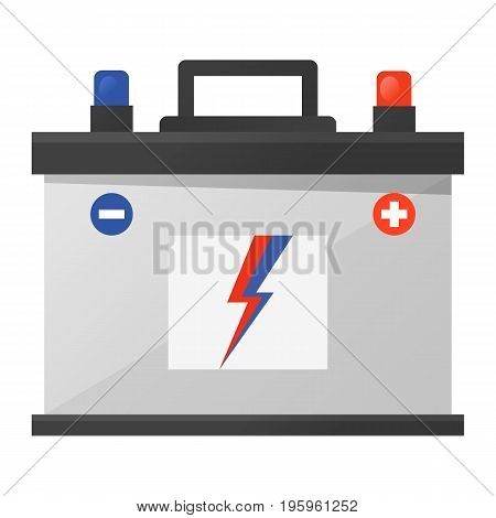 Car battery icon vector illustration in flat style
