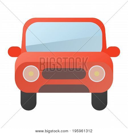 Car icon vector illustration in flat style