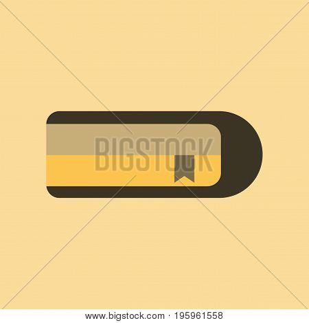 flat icon on stylish background book bookmark