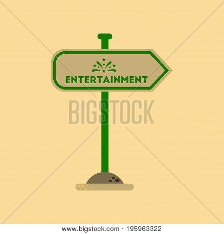 flat icon on stylish background sign entertainment