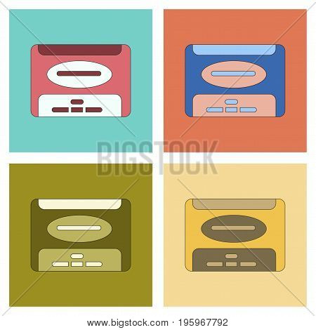assembly of flat Illustrations removable hard drive