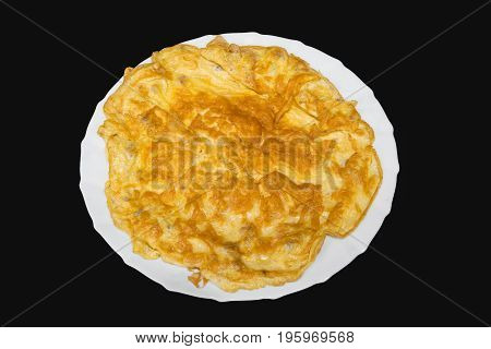 This is omelette thai style in cuisine. Omelette with crab meat