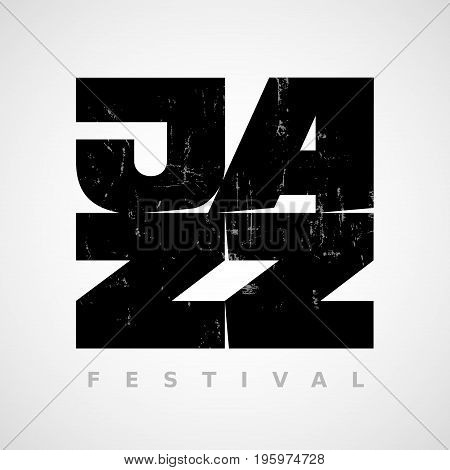 Vector Jazz flyer on grunge background. Eps8. RGB. Global colors