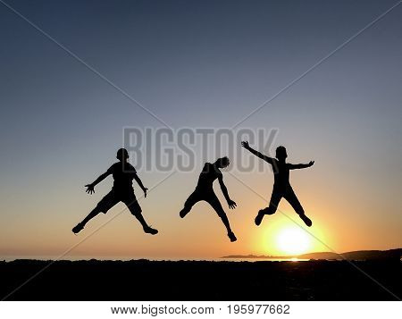 Jumping of energetic and dynamic youngsters &energetic