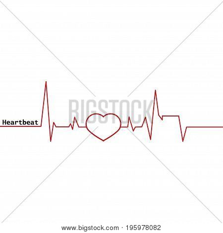 Heartbeat icon. Scale heartbeat on a white background