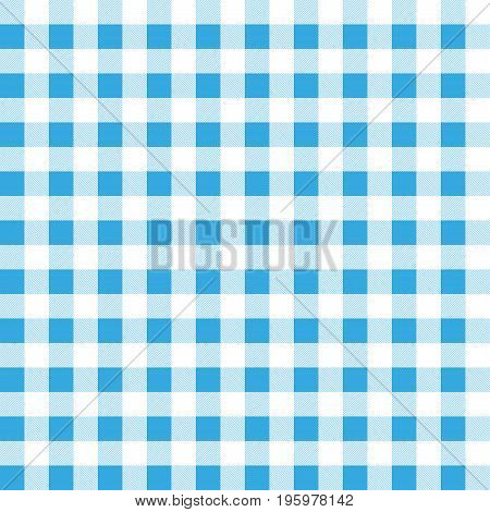 Checkered tablecloths pattern blue retro style background