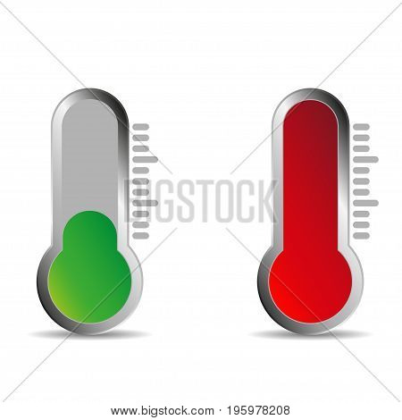 Temperature logo with shadow. Warm temperature  background