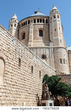 Jerusalem Israel July 14 2016 : The Dormition abbey in the Old City of Jerusalem Israel