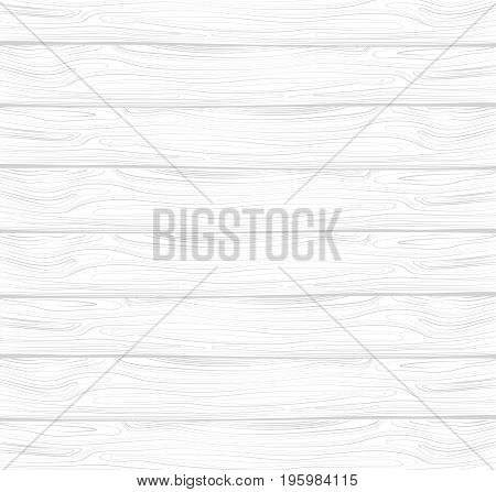 Vector texture of white wood. White wooden lining. Board with the texture of the tree.