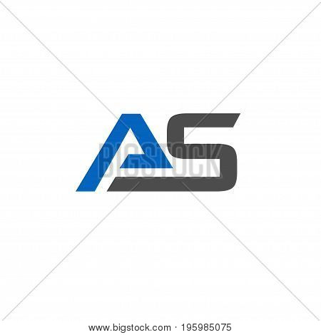 AS letter Business design template logo icon