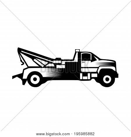 Tow truck icon vector filled flat sign solid pictogram isolated on white.eps8,ep10