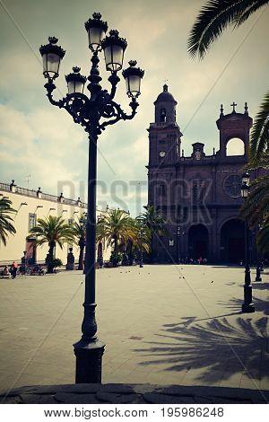 Plaza de Santa Ana in Las Palmas, Gran Canaria, Spain