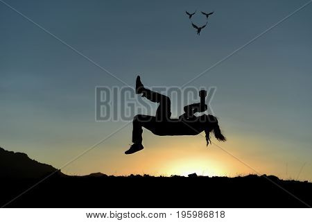Levitation technique in photography & freedom photographer
